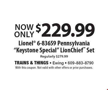 Now Only $229.99 for a Lionel 6-83659 Pennsylvania