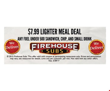 $7.99 lighter meal deal
