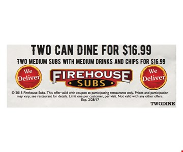 $16.99 two can dine