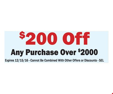 $200 off any purchase over $2000
