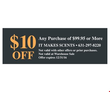 $10 off any purchase of $99.95 or more