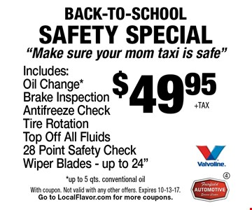 BACK-TO-SCHOOL SAFETY SPECIAL