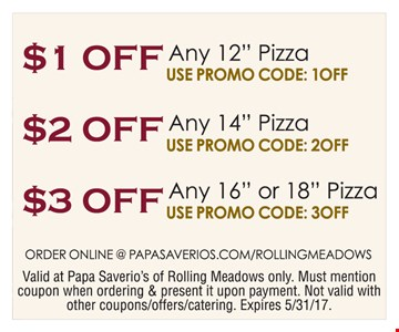 $1, $2, $3 off pizza