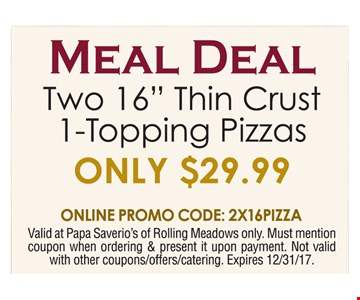 Meal Deal only $29.99