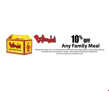10% off any family meal