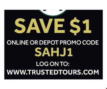 Save $1 online
