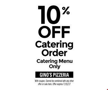 10% off catering order