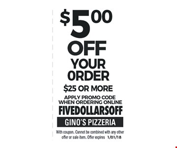 $5 off Your Purchase $25 or More
