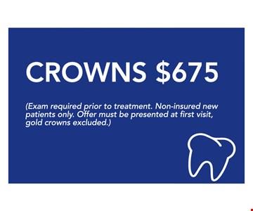 Crowns $675