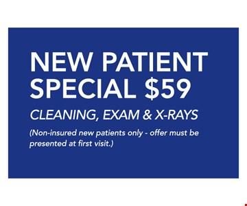 New patient special $59