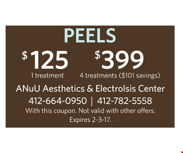 Peels $125 and $399