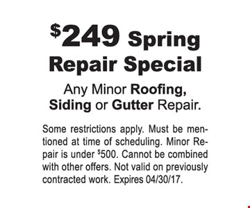$249 Spring repair special