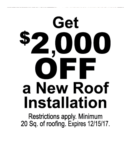 P.J. FITZPATRICK INC: Get $2000 Off As New Roof Installation