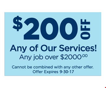 $200 off any service over $2,000