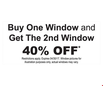 buy one window and get the second window 40% off