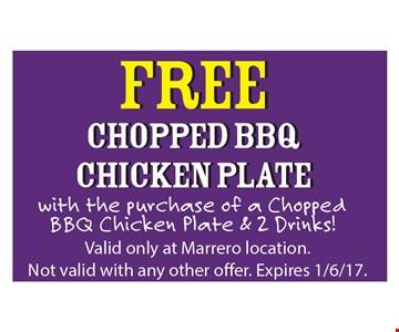 Free Chopped BBQ Chicken Plate