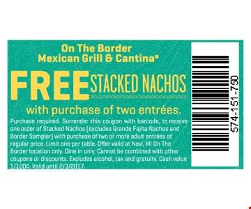 Free stacked nachos