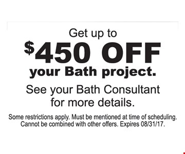 Get Up To $450 Off Your Bath Project