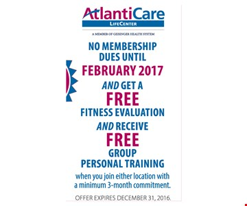 Free Fitness Evaluation and Free Group Personal Training