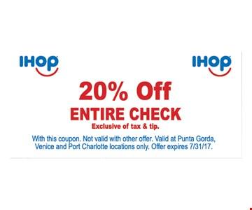 20% Off Entire Check