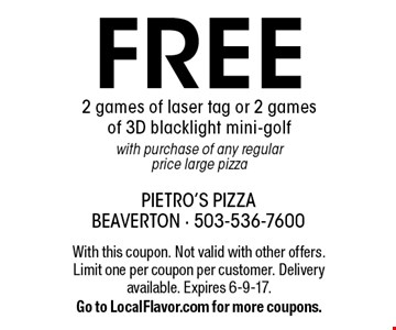 free 2 games of laser tag or 2 games