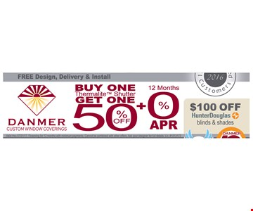 Buy one Thermalite Shutter get one 50% off