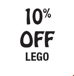 10% OFF LEGO.