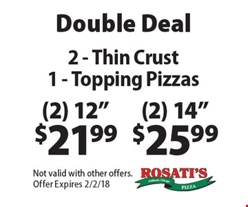 Double Deal: (2) 14