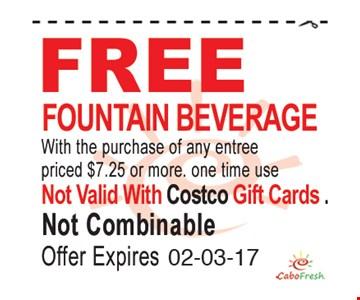 Free fountain beverage