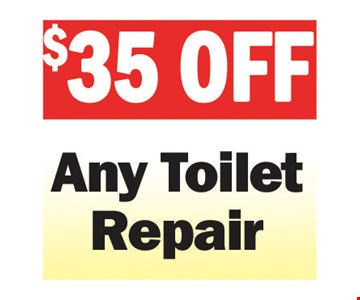 $35 Off Any Toilet Repair