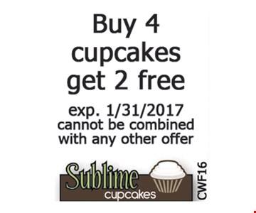 $6 off a dozen regular size cupcakes