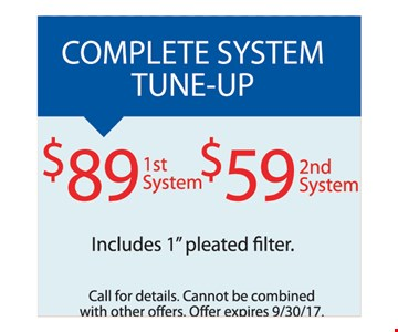 System tune up for $89.