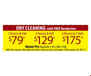 Dry Cleaning with Free Deodorizer $79, $129 & $175