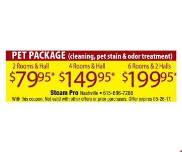 Pet Package $79.95, $149.95 & $199.95