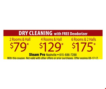 Dry cleaning for as low as $79.