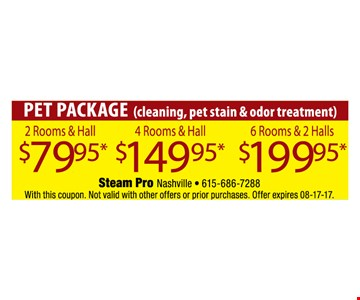 Pet Package for as low as $79.95.