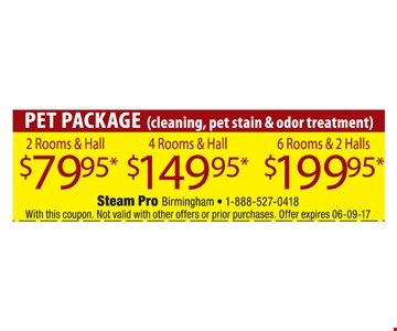 Pet Package for as low as $79.95