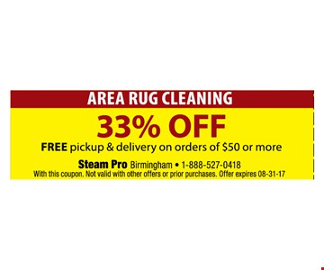 Area rug cleaning 33% off