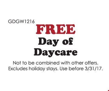 Free Day of Daycare