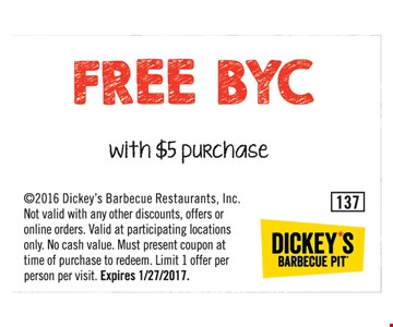 Free BYC with $5 purchase