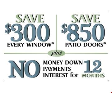 $300 every window