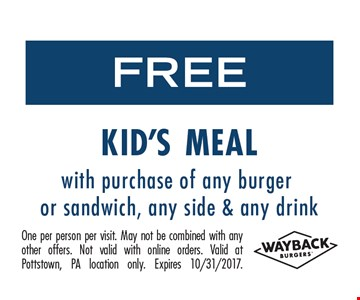 Free kid's meal.