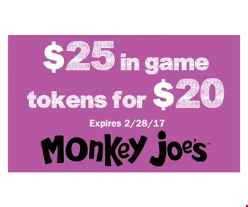 $25 In game tokens for $20