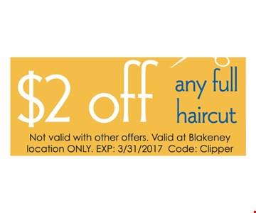$2 Off Any Full Haircut