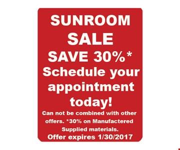Sunroom Sale Save 30%