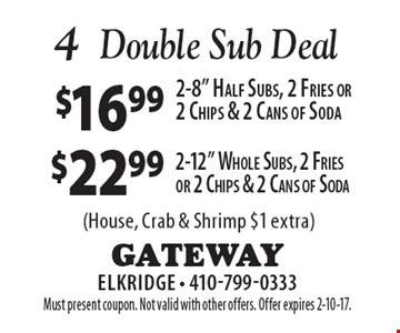 Double Sub Deal - 2-12