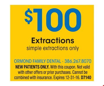 $100 Extractions