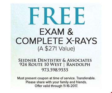 free exam & complete x-rays