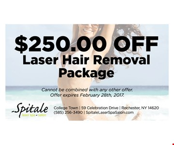 $250.00 Off Laser Hair Removal Package
