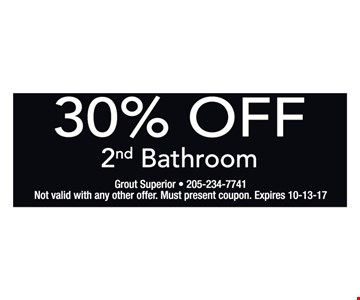 30% off second bathroom.